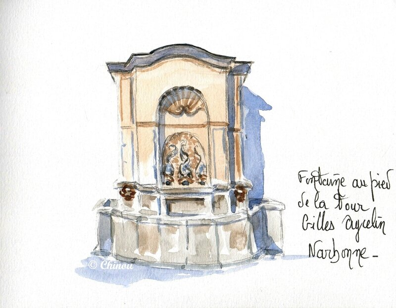 Fontaine tour Gille Aycelin Narbonne