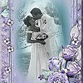 fleurs bleues mariage