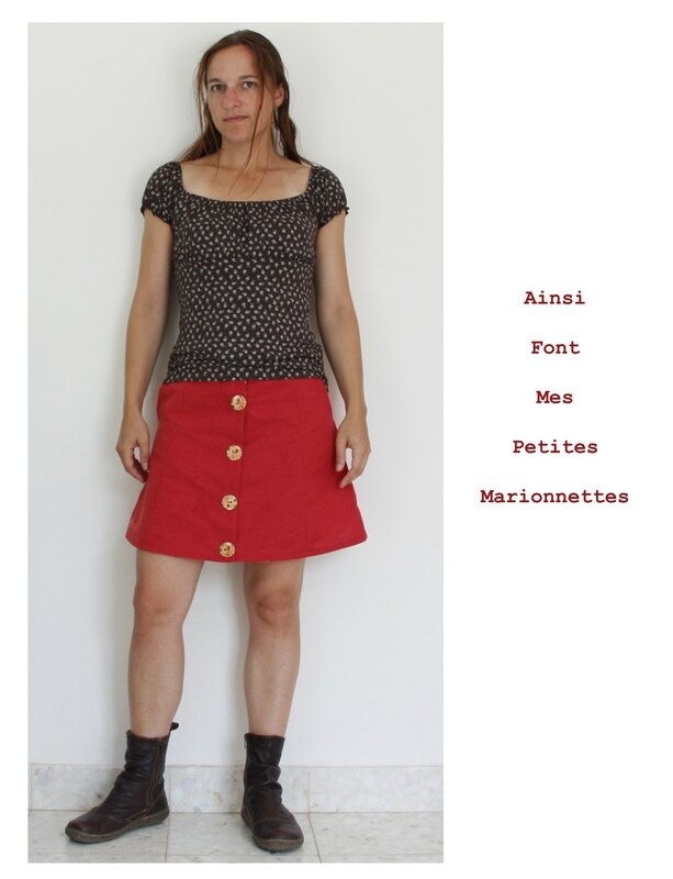 jupe toile rouge 4