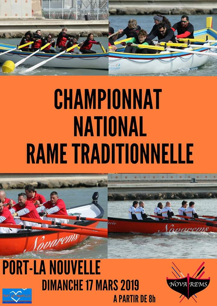 RAME TRADITIONNELLE - CONVOCATION Pour le 16 Mars 2018 - Championat National Port La Nouvelle + Tirage