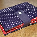 08. sac pliable rouge et violet - plié