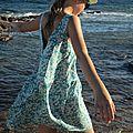 Une robe mistral en mitsi menthe