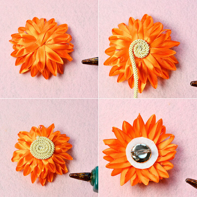 PandaHall-tutorials-on-sunflower-brooch-4