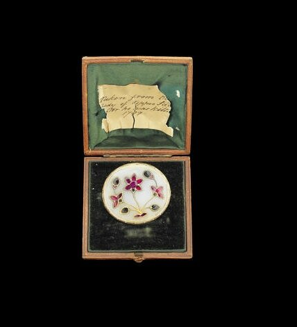 A Mughal gem-set jade Plaque with note stating found with the body of Tipu Sultan in 1799, India, 18th Century