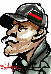 caricature numerique homme casquette