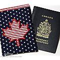 Motif cadeau : feuille d'érable canadienne en appliqué