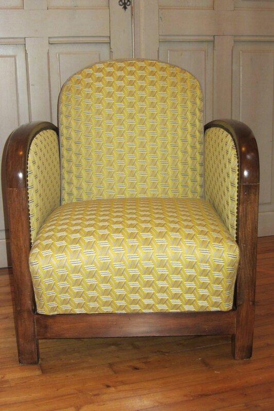 fauteuil art déco mécanique tapissier à Brest