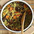 One pot version potée avec chou, marrons, carotte, échalote