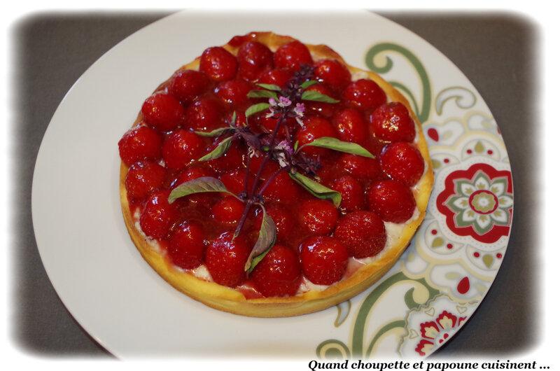 tarte aux fraises crème pâtissière-5196