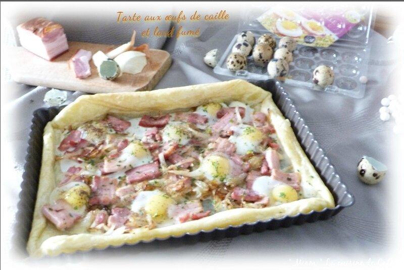 tarte aux oeufs de cailles et lard1