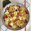 Etoiles de polenta au speck et fontina aop