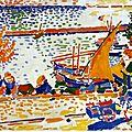 FAUVISME 1905_Le port de Collioure, le cheval blanc_Derain