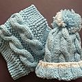 bonnet et snood Charlotte