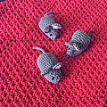 Petites souris au crochet...........