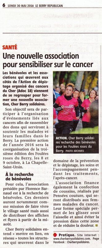 Article Cher-Berry Solidaires 2