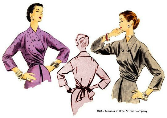 Decades of Style - 1952 Wrap Blouse