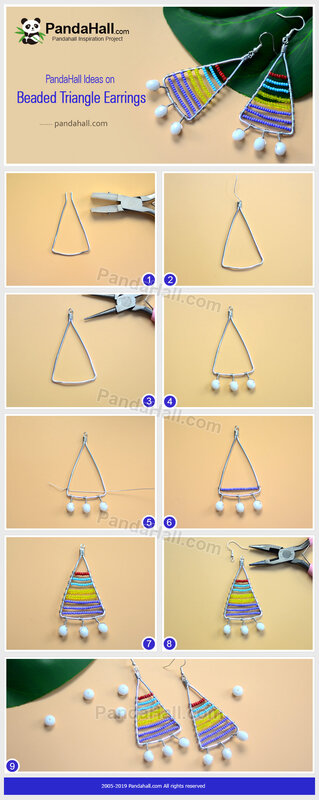 1-PandaHall-Ideas-on-Beaded-Triangle-Earrings