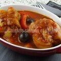 Paupiettes sauce tomate, poivrons et olives