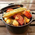 Salade de poivrons, œufs, maïs et chorizo
