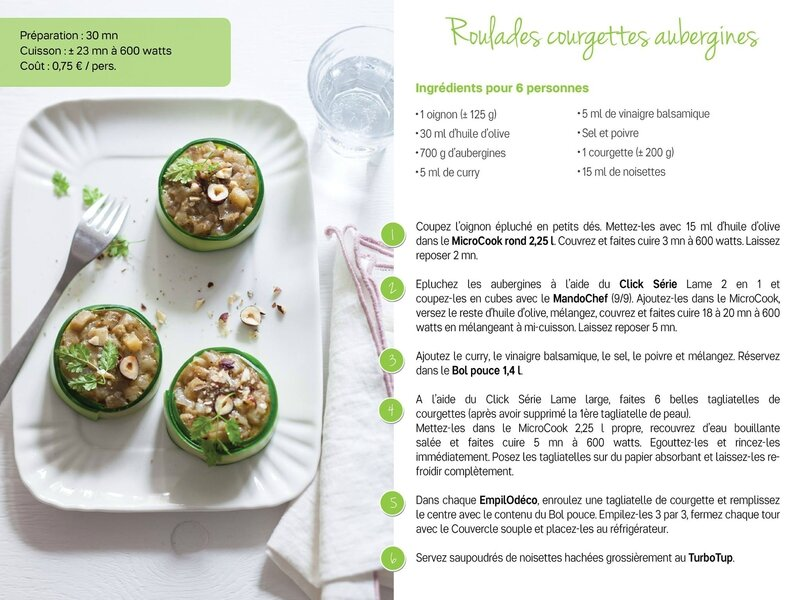 roulades courgettes aubergines