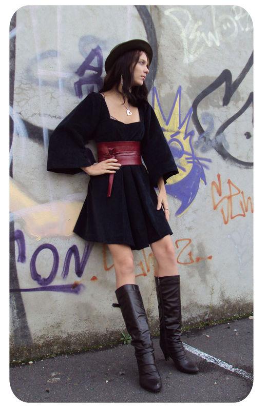 robe à plis soleil et ceinture geisha 2
