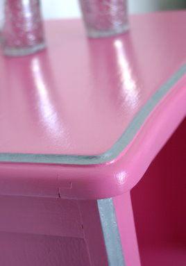 Tablette rose détail