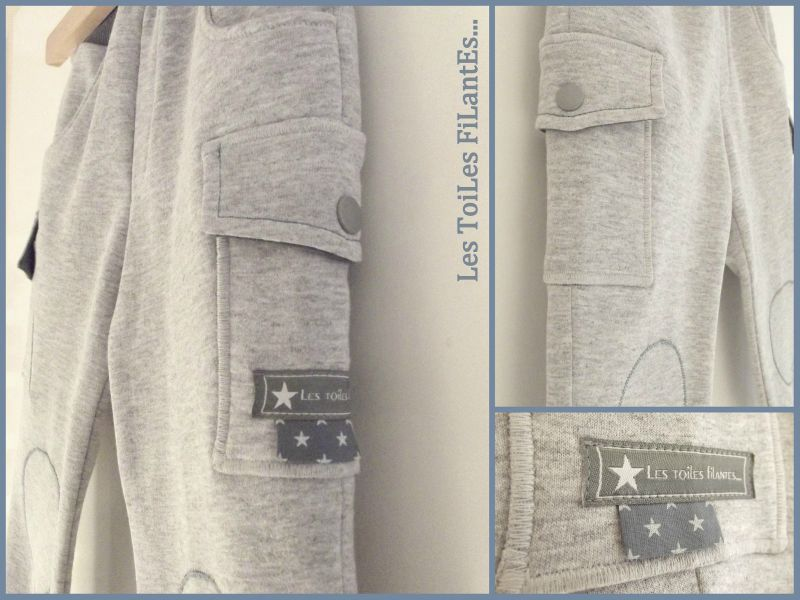 Pantalon All time favorite Ottobre gris et bleu3