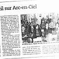 Vu dans la presse : coup d'oeil sur arc-en-ciel (24/10/2012).