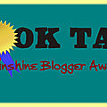Tag ~ 68 : book tag sunshine blogger award