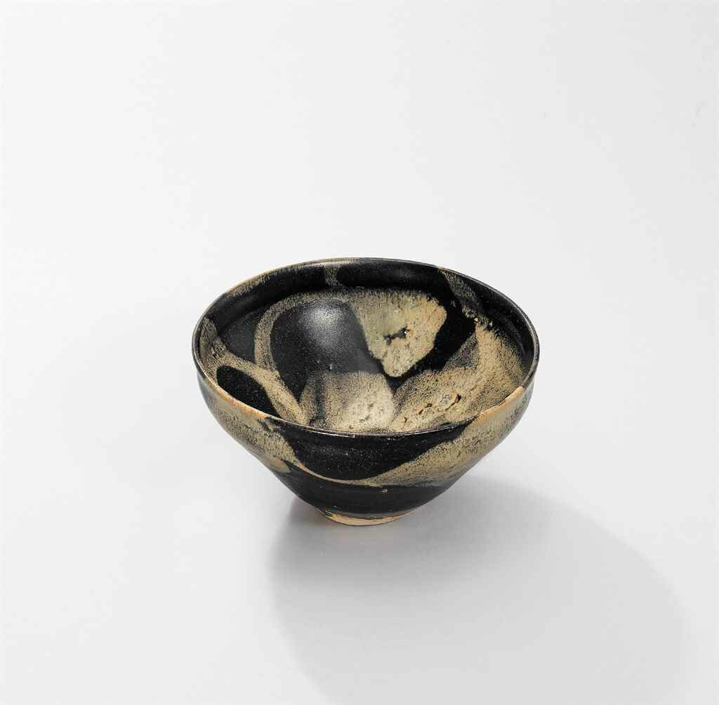 A Jizhou phosphatic-splashed black-glazed bowl, Southern Song Dynasty (1127-1279)