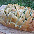 Pain apéritif au fromage (comme un pull apart bread)
