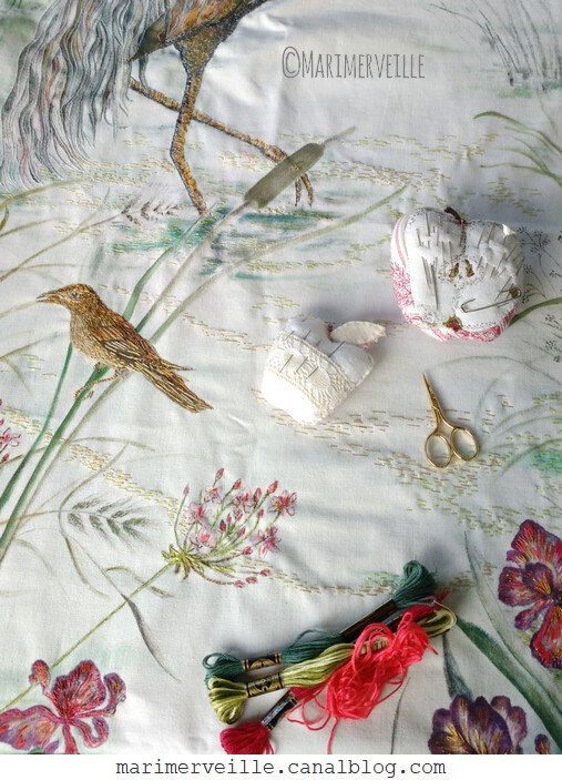 Broderie en cours - histoire textile - marimerveille 2