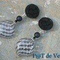 Boucles d'oreilles à clips, série Bouton
