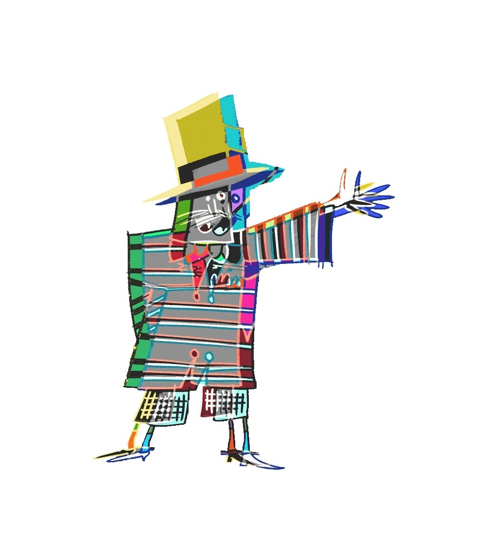 création personnage ( festival municipal: flyers, éco cup, affiches)