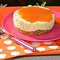 Cheese cake mangue et coulis d'abricot