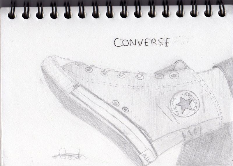 converse dessin