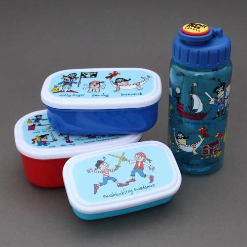 Lot boîtes à goûter-déjeuner et gourde Pirates Tyrrell Katz pour enfants