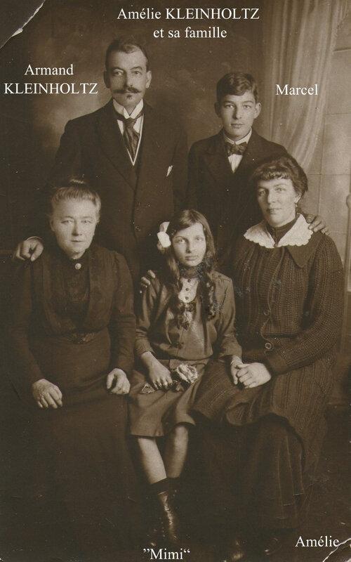 Armand Kleinholtz et ses enfants