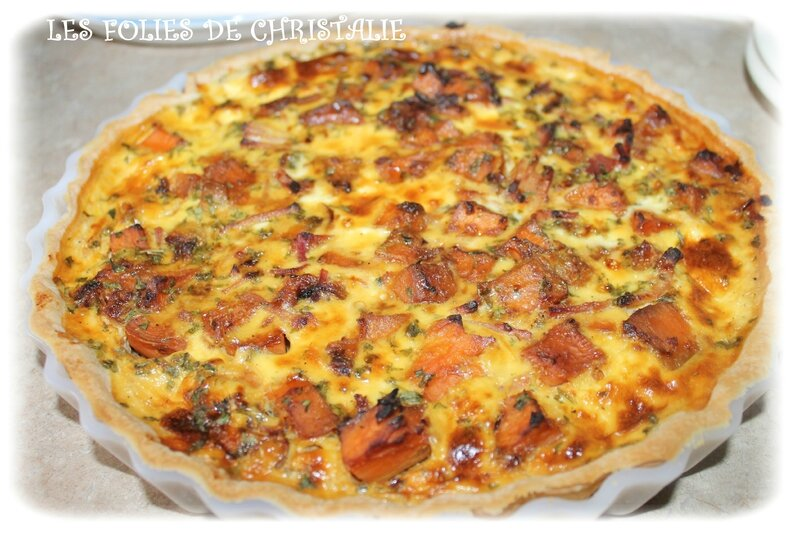 Tarte patates douces 5