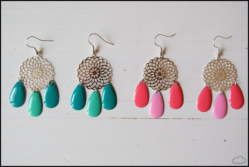 boucles-d'oreilles-rosace-gouttes-émaillées-capucine-1