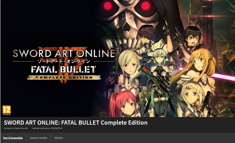 SAO Fatal Bullet Complete Switch