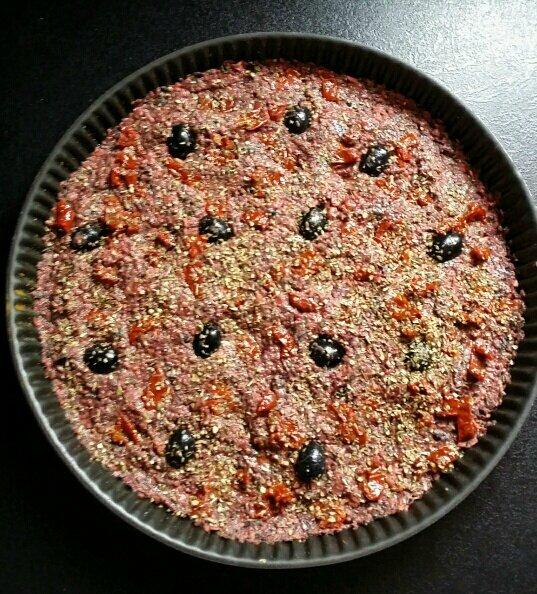 pizza sans gluten avant cuisson
