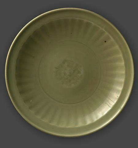 A Longquan celadon dish, Ming dynasty. Photo: Bonhams.
