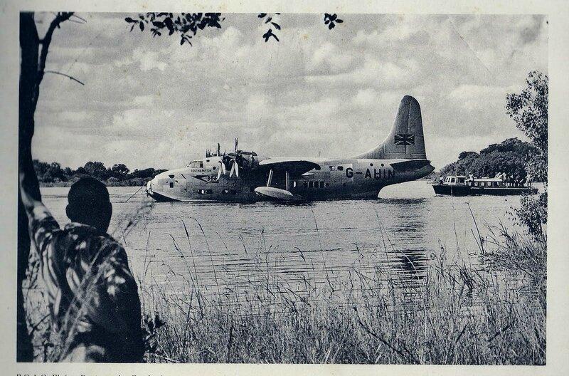 Hydravion sur le Zambèze