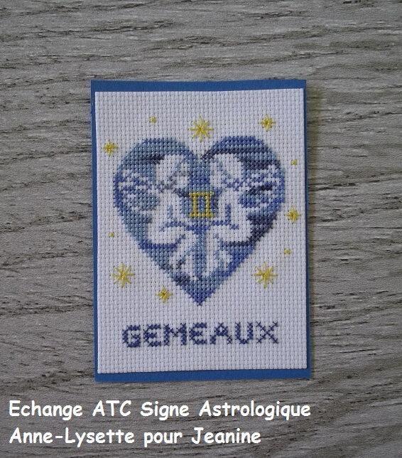 Echange ATC Signe Astro Anne-Lysette