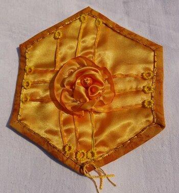 HX 16 rose ORIGAMI jaune