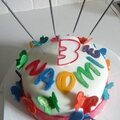 Rainbow cake, gateau arc-en-ciel d'anniversaire