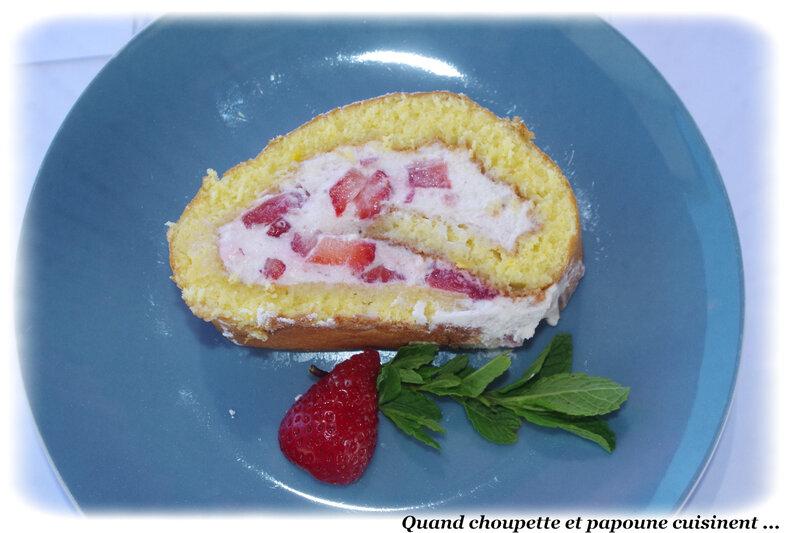 roulé aux fraises Cyril Lignac-3144