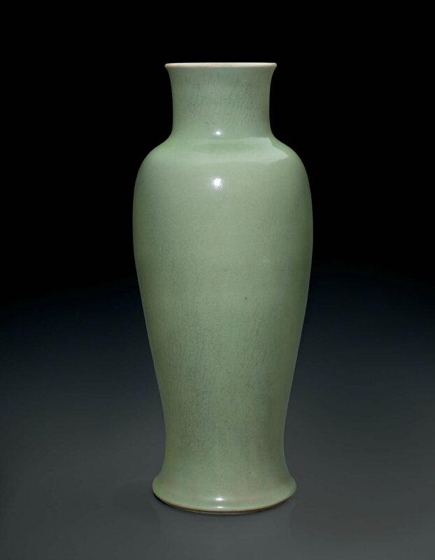 A very rare lu Langyao slender baluster vase, China, Qing dynasty, Kangxi period (1662-1722)
