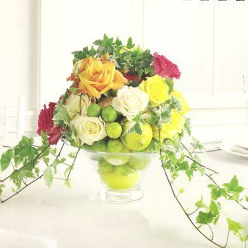Priselemon_lime_wedding_centerpiece
